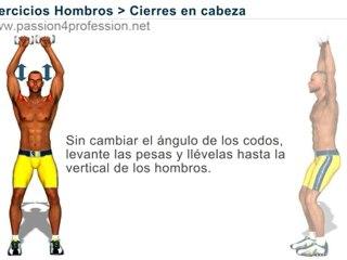 Ejercicios para hombros : Cierres en cabezaPresentación de ejercicios para desarrollar los hombros a través de animaciones.