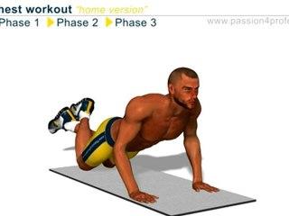 Cwiczenia trening na klatke piersiowa