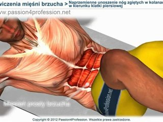 Naprzemienne unoszenie nóg zgiętych w kolanach w kierunku klatki piersiowej