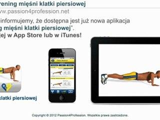 Trening mięśni klatki piersiowej - aplikacja iPad iPhone
