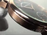 Classic 1815 Rose Gold Case Black Dial Black Leather Strap Watch