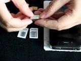 NOOSY nano sim adpater for iPhone 5 nano sim card, convert nano sim to micro sim and standard sim card