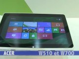 IFA 2012 : Acer Iconia Tab W510 et W700