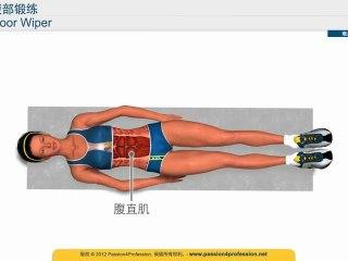健身腹部 健身方法 - 减肥腹部 - Floor Wiper