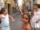 Les enfants gitans du quartier Saint-Jacques à Perpignan