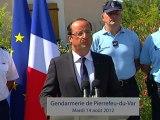 Allocution du Président à la gendarmerie de Pierrefeu-du-Var