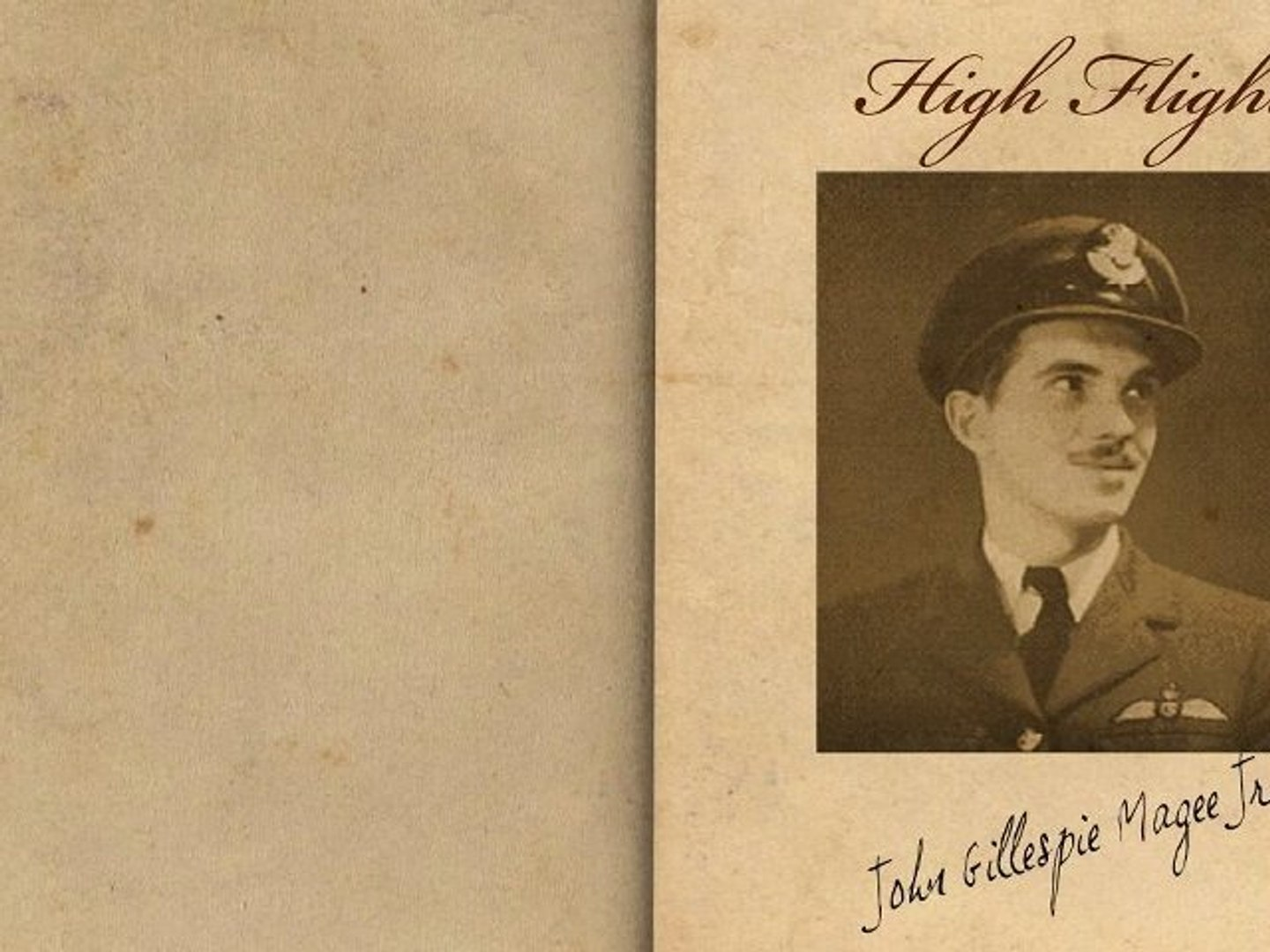 High Flight By John Gillespie Magee Jr Poetry Reading