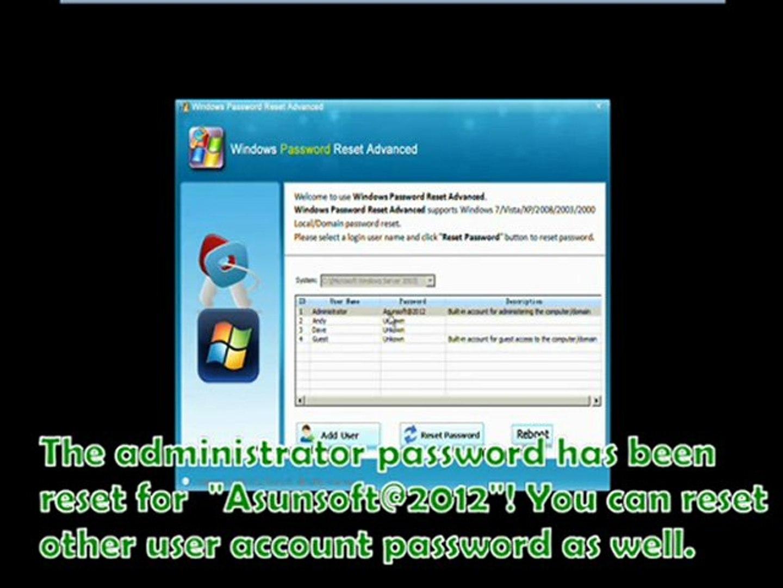 hack windows vista business password