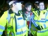 DSK Go Away! Students against scandalous Strauss-Kahn