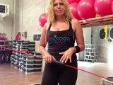 Monya fitness e Giwa esercizio per i glutei con il trampolino elastico e Flexi Bar BARRA FLESSIBILE