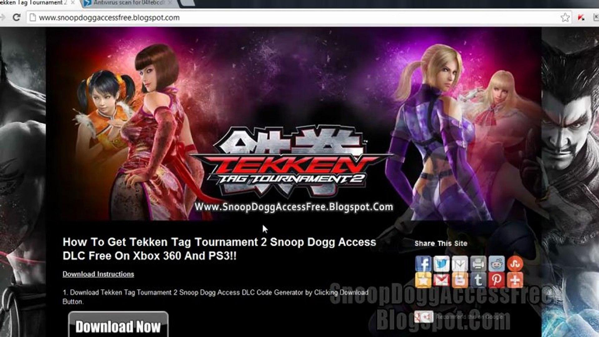 Tekken Tag Tournament 2 Snoop Dogg Access Dlc Xbox 360 Ps3