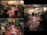 Le vernissage de l'exposition des travaux des artistes en résidence, festival d'art contemporain de Saint-Florent-sur-Auzonnet, 2012