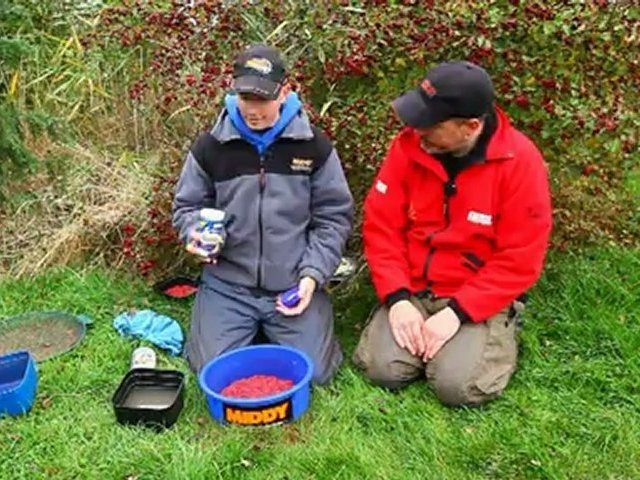 Fishing with balls of maggots using Stickymag and Horlicks