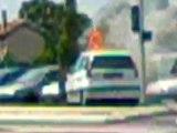 une voiture prend feu au carrefour de casino