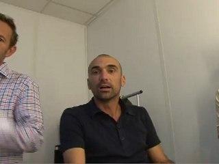Jérôme Alonzo présente son émission sur sport365