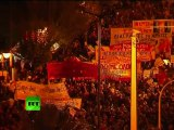 Greece battles video: Clashes, firebombs as thousands march in Athens