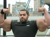 Moustafa Ismail boasts the largest biceps in the world