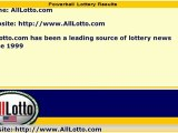 Powerball Lottery Drawing Results for September 15, 2012