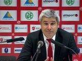 Conférence de presse Valenciennes FC - Girondins de Bordeaux : Daniel  SANCHEZ (VAFC) - Francis GILLOT (FCGB) - saison 2012/2013