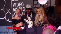 Miley Cyrus, Mike Will Made It and Tisch Cyrus 2013 MTV Music AWARDS Red Carpet