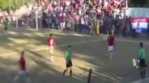 Paraguayan footballer kicks referee in the face during melee