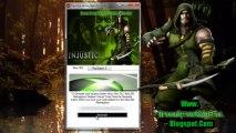 Injustice Gods Among Us Green Arrow Skin Dlc Redeem Codes - Xbox 360,PS3