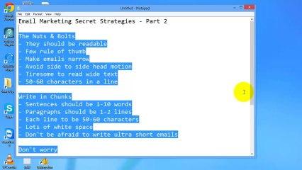 Email Marketing Secrets Revealed - Part 2