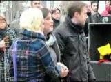 Inauguration de la stéle aux victimes de la rue Léopold à Liège
