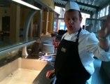 Dans les cuisines avec les élèves de St-Roch à Marche