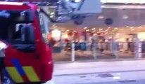 Incendie rue neuve à Bruxelles: l'arrivée des pompiers (exclusif)