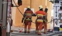 Important incendie de toitures rue Neuve, à Bruxelles