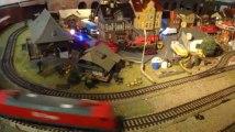 Exposition de modélisme à Malmedy: le train électrique de nuit