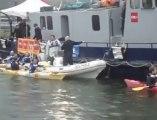 """L'équipe de """"On n'est pas des pigeons"""" en kayak pour Cap 48"""