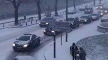 Charleroi: neige sur la Ville Basse à 17h00