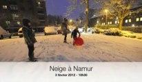 Neige à Namur: 18h30 la glisse déjà assurée pour les enfants!