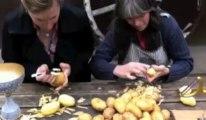 Grivegnée: Isabelle, l'éplucheuse de patates la plus rapide