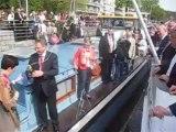 Inauguration du bateau école Province de Liège 1 et 2 à Huy