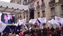Présidentielles françaises 2012: ambiance à Paris près du siège socialiste