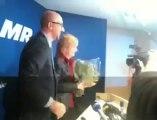 Le bouquet de fleurs de Charles Michel à Françoise Schepmans, nouvelle bourgmestre MR de Molenbeek