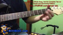 How to Play Helter Skelter on Guitar (riff chords) - Easy Beatles Song to Play