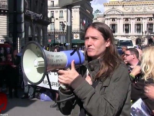 Rassemblement devant l'agence Air France d'Opéra (29.09.2012)