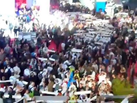 Manifestation au mondial de l'automobile 2012
