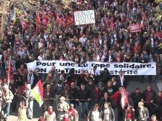 Manifestation Anti-TSCG, Annick Coupé