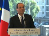Discours du Président de la République au Mémorial de Drancy