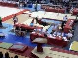 Finale de Coupe de France de gymnastique à Valenciennes.