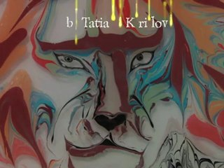 EBRU-Lion.  Turkish Marbling by Tatiana Kirillova  ЭБРУ - турецкое мраморирование. Татьяна Кириллова