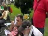 Interviu cu Revolutionarii Perju Daniel si Adam Cristina aflati in Protest la Guvernul Romaniei (04.Oct.2012)