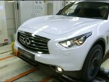 Sebastian Vettel and the Infiniti FX