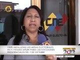 Instaladas en su totalidad las mesas electorales en el estado Apure