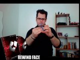 Rewind (Gimmick  DVD  FACE card  RED back) by Mickael Chatelain - Magic Trick